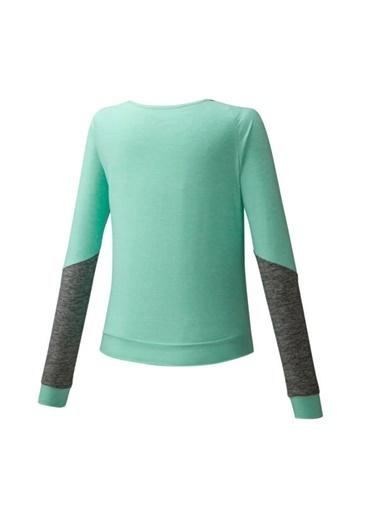 Mizuno Style Ls Shirt Kadın T-Shirt Yeşil Yeşil